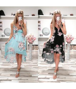 Květované šaty CARLA LONG