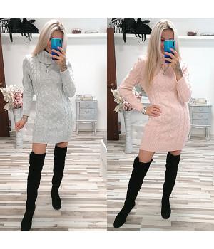 Rolákové svetrové šaty IGNES