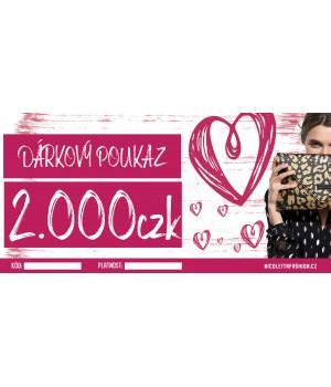 Dárkový poukaz 2000 CZK