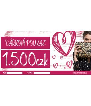 Dárkový poukaz 1500 CZK